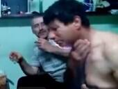 俄罗斯男子点燃伏特加 不慎致浓密胸毛起火